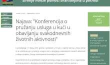 """Najava konferencije u sklopu projekta """"Širenje mreže pomoći braniteljima u potrebi"""""""
